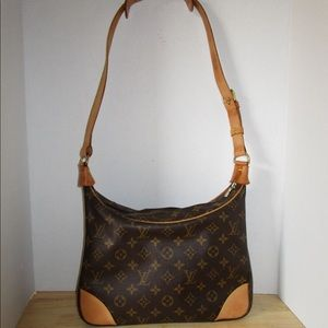 Louis Vuitton Boulonge 30 Shoulder Bag Purse